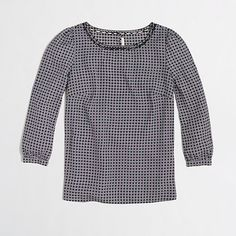 J.Crew Factory - Factory scalloped-collar top in geometric dot