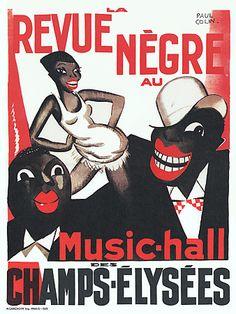 Josephine Baker  'Revue Negre' au Champs-Elysees | Artist: Colin