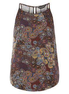 Multi Colour Paisley Cami Top