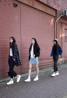 New Ideas for fashion korean street style seoul Korean Street Fashion, Korea Fashion, Asian Fashion, Look Fashion, Trendy Fashion, Girl Fashion, Fashion Trends, Seoul Fashion, Korea Street Style