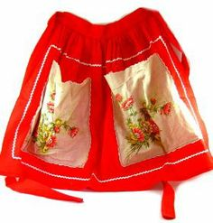 Vintage Handkerchief Apron — craftbits.com. Patterns needed and instructions are here. This is so pretty!