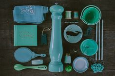 """Emily Blincoe / """"here are all of my minty green things"""" / colors organized neatly may 2013"""
