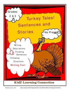 A Thanksgiving-themed bundle that provides seven different writing practice applications. Students complete sentence, read and follow directions, create descriptive sentences and more!Check out the All About Thanksgiving Activity Bundle K-3 for 26 different math, English language arts, social studies and health activities!