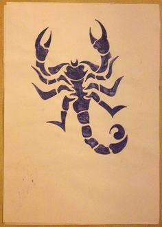 Tribal drawing ~ scorpion -Coline210