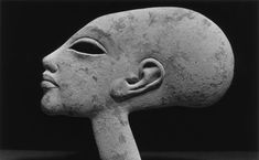 """Daughter of Amenophis IV or Akhenaten Egyptian, limestone/ red paint. """" This female head has an elongated skull, and is probably a child of Amenhotep IV/Akhenaten BCE). The eye is hollow for inlaying. The piece is broken. Ancient Aliens, Ancient Egyptian Artifacts, Ancient History, Art History, Objets Antiques, Arte Tribal, Art Antique, Egypt Art, Ancient Civilizations"""