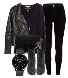 """""""Untitled #4815"""" by laurenmboot ❤ liked on Polyvore featuring River Island, H&M, rag & bone and The Horse"""