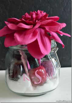 Monogram Manicure Jar