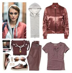 """""""Street Style: Copper Colors"""" by musicfriend1 on Polyvore featuring Veronica Beard, Topshop, Marc Jacobs, Hollister Co., AG Adriano Goldschmied, Alexander Wang, Gucci, Golden Goose, Bottega Veneta and Emporio Armani"""