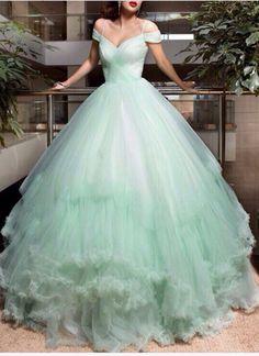 Wedding Dress,Mint Green Wedding Dr