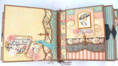 8x8 A Ladies Diary Scrapbook MiniAlbum PDF Tutorial by SoMuchScrap