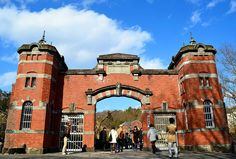 Entrance to a classic European Prison.but in Inuyama Japan. Entrance to a cl Love Garden, Garden Buildings, Beautiful Places To Visit, Theatre Schools, Prison, Barcelona Cathedral, 19th Century, Entrance, Instagram Travel