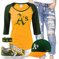 Oakland Athletics Converse & Tee Outfit
