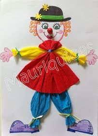 Kids Crafts, Clown Crafts, Circus Crafts, Hobbies And Crafts, Diy And Crafts, Arts And Crafts, Reusable Things, Theme Carnaval, Paper Roll Crafts