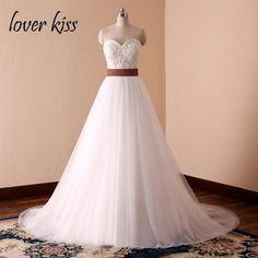 45c19c165ba6 Lover Kiss Vestido De Noiva Simple White A-Line Country Western Wedding  Dresses Bride Spring Summer Pearls Bridal Gowns Designe