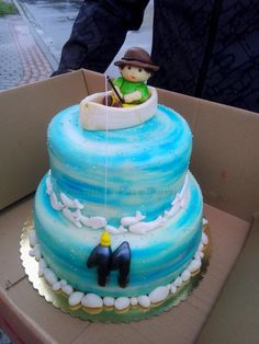 Young fishman CAKE. DORT pro mladého rybáře.