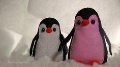 Pizca Creativa: Pingüinito de fieltro // Peluche con moldes GRATIS