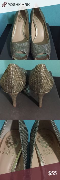 """Vince Camuto Shoes wore once! In great condition. 3.5"""" heel. Shoes Heels"""