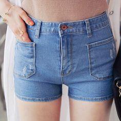 Qnigirls New Womens Look At Me Denim Basic Shorts Cute Lovely Style #Qnigirls #Denim