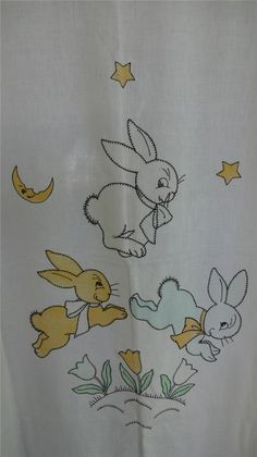 Jumping bunnies crib coverlet