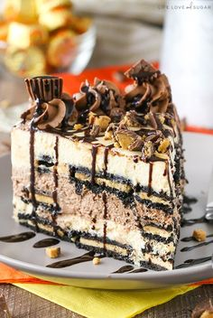 This Reese's Peanut Butter Chocolate Icebox Cake is a peanut butter and chocolate lover's dream. Plus, it's no bake and so easy to make. It's basically the perfect dessert. 🙂 So this past weekend was full of a relative amount of relaxation. Probably the most I've relaxed since last summer. I even went shopping! Boy …