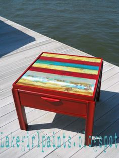 Lake Girl Paints: Texture Blast Table