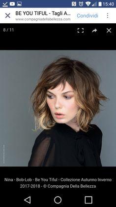 Haircut Short Curly Hair Shape 69 Ideas For 2019 Short Curly Hair, Wavy Hair, Short Hair Cuts, Her Hair, Pelo Midi, Medium Hair Styles, Curly Hair Styles, Hair Medium, Corte Y Color