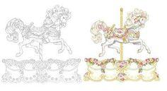Carousel Horse Drawings | The San Francisco Music Box Company