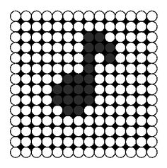Perler Bead Music Note Perler Bead Pattern | Bead Sprites | Simple Fuse Bead Patterns