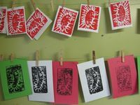 Styrofoam printing -- more Christmas cards - The Artful Parent