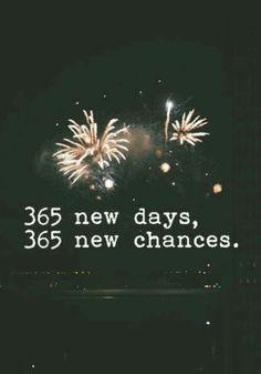 365 yeni günler, 365 yeni şanslar.