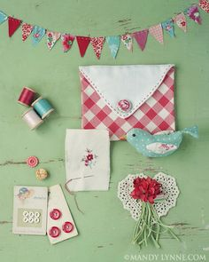 Love the different things together in a grouping. I may change out one of my sewing room boards to doing this