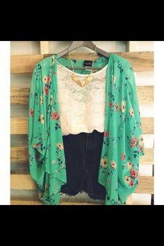 Cute floral cardigan