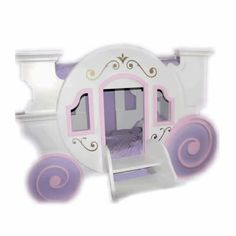 Cinderella Carriage Bed at ABaby. Shop for Cinderella Carriage Bed from Prince and Princess Beds collection at affordable prices. Cinderella Carriage Bed, Princess Carriage Bed, Cinderella Bed, Princess Room, Princess Theme, Cool Bunk Beds, Kid Beds, Loft Beds, Little Girl Beds
