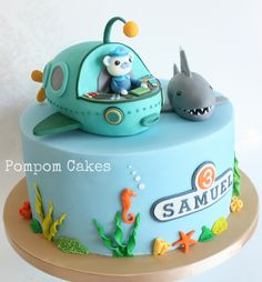 The Octonauts and the white-tipped shark | by Pompom Cakes