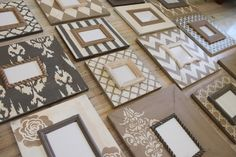 Distressed Frames: I just love a neutral gallery wall