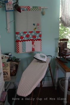 Have a Daily Cup of Mrs. Olson: Where Bloggers Create. . .Sewing Room or Play Room?