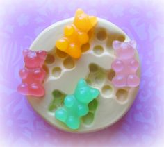 Gummy Bear Candy Mold Deco Sweets Kawaii Food Silicone Flexible Clay Resin Mould on Etsy Gummy Bear Candy, Gummy Bears, Resin Molds, Silicone Molds, Soap Molds, Mint Recipes, Scented Wax Melts, Candy Molds, Resin Crafts