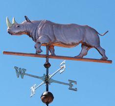 Rhinoceros Weathervane - Customization Available