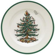 I think I'm still a few short on these. Amazon.com | Spode Christmas Tree 10-1/2-Inch Dinner Plates, Set of 4: Spode Christmas Plates: Dinner Plates