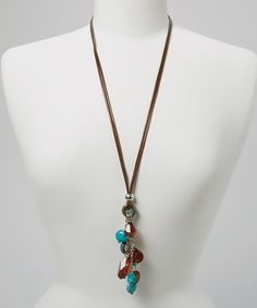 Turquoise Sing It Loud Pendant Necklace by LOLO by New Dimensions #zulily #zulilyfinds