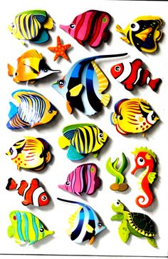 Fish Crafts, Clay Crafts, Diy And Crafts, Crafts For Kids, Arts And Crafts, Paper Crafts, Rock Crafts, Tropical Fish Tanks, Wood Fish