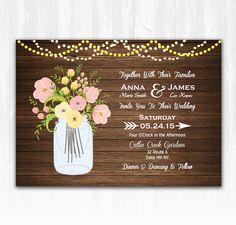 Rose Wedding Invitation DIY PRINTABLE by TreasuredMomentsCard