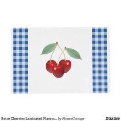 Retro Cherries Laminated Placemat