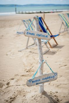 Signage for a  Bournemouth Beach Hut Wedding | Photography by http://www.mia-photography.com/