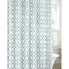 Tommy Bahama Shoretown Trellis Lagoon Cotton Shower Curtain - Overstock™ Shopping - Great Deals on Tommy Bahama Shower Curtains