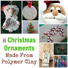 If you are having a hard time finding the perfect ornaments for you Christmas tree, then maybe try making your own. These 8 tutorials will give you some great inspiration for making your own custo… Art Christmas Gifts, Easy Christmas Ornaments, Polymer Clay Christmas, Diy Holiday Gifts, How To Make Ornaments, Holiday Crafts, Christmas Ideas, Homemade Ornaments, Snowman Ornaments