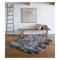 Ugg Sheepskin Area Rug Octo ($895) ❤ liked on Polyvore featuring home, rugs, grey, grey area rug, sheepskin area rug, sheep-skin rug, grey sheepskin rug and gray area rug