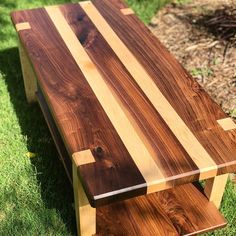 This Le Mans Dovetail Coffee Table is just one of the custom, handmade pieces you'll find in our coffee & end tables shops. Woodworking Projects Diy, Woodworking Furniture, Diy Wood Projects, Pallet Furniture, Woodworking Plans, Wood Crafts, Woodworking Classes, Woodworking Coffee Table Ideas, Outdoor Furniture