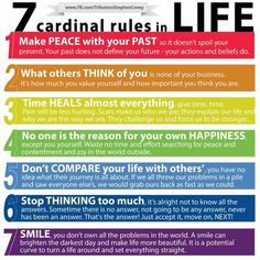 7 Cardinal Rules in Life  http://healthguidewellness.blogspot.com/2013/04/7-cardinal-rules-in-life-visit.html