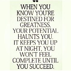 Your #Destiny = #Greatness. Love it!